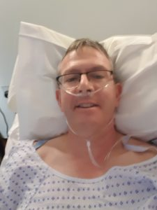 The start of my total hip replacement recovery story