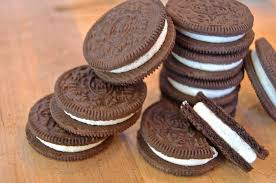 Oreo cookies - two O biscuit discs sandwiching cream
