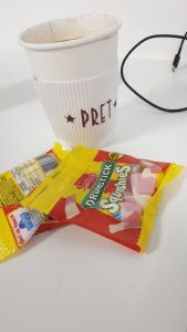 Starting a new job needs caffeine and sweets to keep you going