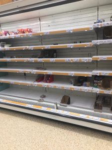 Panic buying leads to empty shelves. It's just irrational