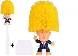 Donald Trump toilet brushes should not be part of a Coronavirus panic or midlife crisis