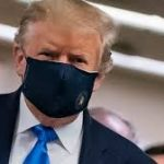 Donald Trump's face mask refuses to stay on after Covid scare