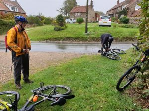 Cycling in Norfolk in the rain, but no issue for the hip replacement.