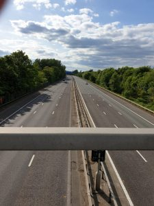 M25 completely empty in Covid lockdown