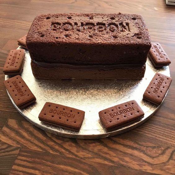 Bourbon biscuit cake