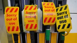 Panic buying petrol